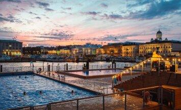 Helsinku centrā šovasar atklāti divi moderni saunu kompleksi ar skatu uz Baltijas jūru