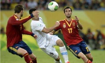 Spānijas futbolisti ar uzvaru sāk Konfederāciju kausu