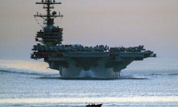 ASV uz Persijas līci plāno sūtīt aviācijas bāzes kuģi 'George H.W. Bush'