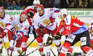 Znaroka vadītā Krievijas izlase pārbaudes spēlē uzvar šveiciešus
