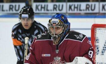 Kalniņš atzīts par KHL nedēļas labāko vārtsargu