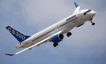 'Bombardier' jaunais 'CS300' iztur pārbaudi: Kanāda sertificē 'airBaltic' paredzēto gaisa kuģi