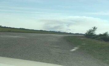 ВИДЕО: В Талсинском крае на большой площади горит торф