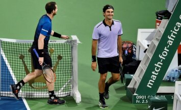 Roger Federer with Andy Murray