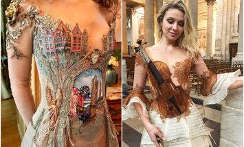 Šķietami nereāli, bet tomēr pa īstam – franču dizainere rada kleitas kā no pasaku grāmatām
