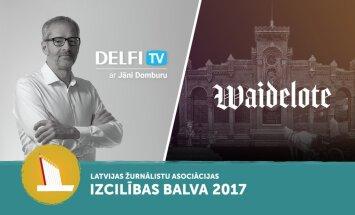 Portāls 'Delfi' un Jānis Domburs saņem Žurnālistu asociācijas izcilības balvas