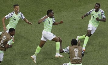Nigērijas izlase ar diviem Musas meistarstiķiem pārspēj Islandi