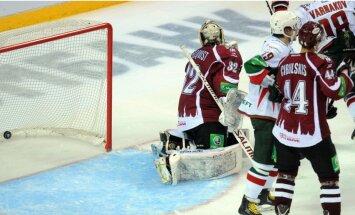 Video: Rīgas 'Dinamo' neizmanto iespējas vairākumā un piedzīvo zaudējumu