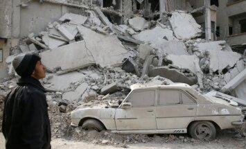 Sīrijas un Krievijas spēki pie Damaskas nogalina 23 civiliedzīvotājus