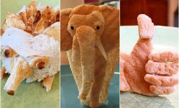 Foto: Tēvs savai alerģiskajai meitai veido pārsteidzošas maizes skulptūras