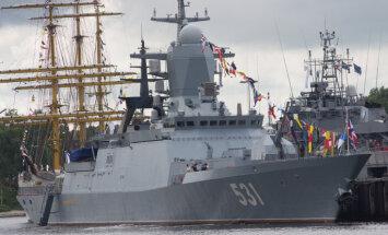 Pie Latvijas identificē divus Krievijas bruņoto spēku kuģus un lidmašīnas