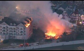 Video: Ņūdžersijā ugunsgrēkā nosvilst vesels kvartāls
