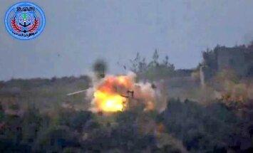 Video: Sīrijas nemiernieki iznīcina Krievijas helikopteru