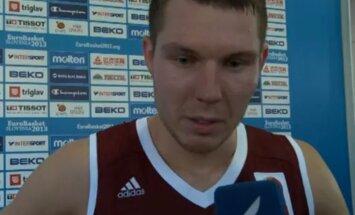 Video: Bertāns uzsver Latvijas izlases pacietīgo spēli