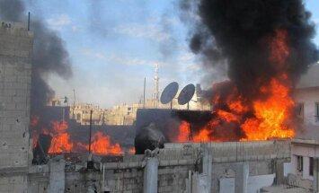 Bruņotā vardarbībā Sīrijā pirmdien 105 bojāgājušie