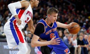 Porziņģim 18 gūti punkti un seši bloķēti metieni; 'Knicks' kārtējais zaudējums