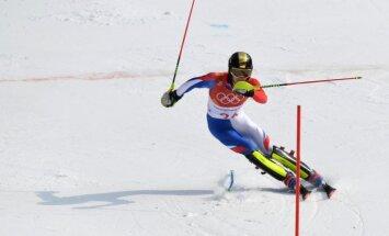 XXIII Ziemas olimpisko spēļu rezultāti kalnu slēpošanā vīriešiem slaloma disciplīnā (22.02.2018.)
