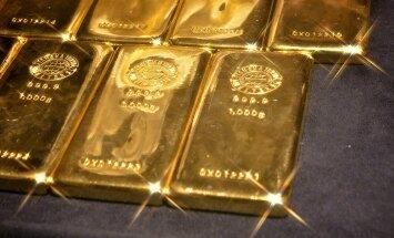 Zelta cenas nedēļas laikā kāpušas par 3,5%