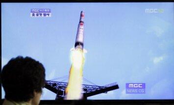 Krievija brīdina Ziemeļkoreju nepalaist raķeti