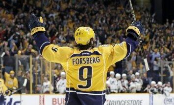 Forsbergs izceļas ar 'hat-trick' otrajā NHL spēlē pēc kārtas