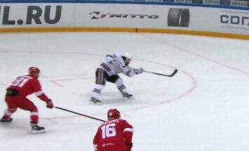 Video: Videla un Majones sadarbība iekļūst KHL skaistāko 'golu' topā