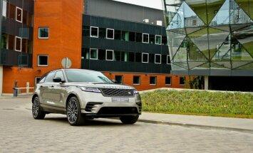 Jaunā 'Range Rover Velar' apvidnieka fotosesija Rīgā