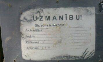 Foto: 'Normāls kaķis un nikna saimniece' – aculiecinieks iemūžina brīdinājuma zīmes Jūrmalā