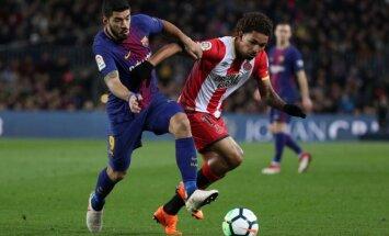 'Barcelona' graujošā uzvarā pārspēj 'Girona' vienību; Svaresam 'hat-trick'