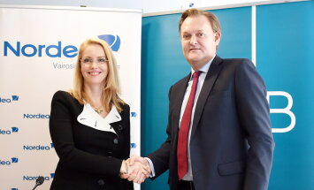 Apvienotā 'Nordea' un 'DNB banka' tiks reģistrēta Igaunijā ar filiālēm Latvijā un Lietuvā