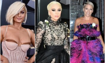Foto: 'Grammy' ceremonijas krāšņākie dekoltē un stila misēkļi