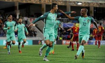 Portugāles izlase vien pēc Ronaldu iziešanas salauž Andoru; Nīderlande, visticamāk, paliks bez PK