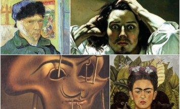 Augstās mākslas selfiji jeb 15 slavenu otas meistaru pašportreti