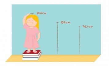 Ap 500 bērnu ik gadu konstatē augšanas problēmas; kāpēc bērni regulāri jāsver