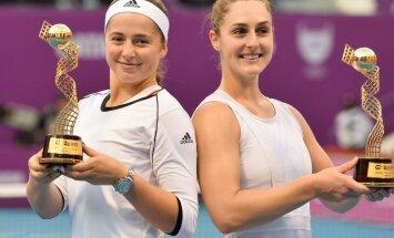 Алена Остапенко в паре с канадкой взяла титул на престижном турнире в Дохе