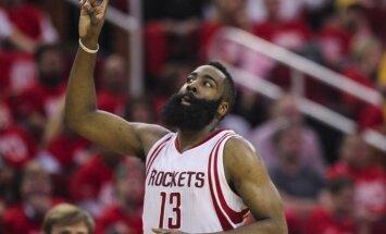 'Rockets' izslēgšanas spēlēs dramatiski pieveic bez Karija spēlējošo 'Warriors'