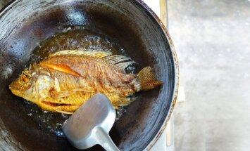 Viltība, ko ievērot, cepot zivis pannā