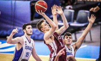 Latvijas U-16 puišu basketbola izlase parāda raksturu un iekļūst EČ ceturtdaļfinālā