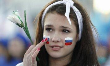 Foto un video: Krimā svin pussalas okupācijas gadadienu