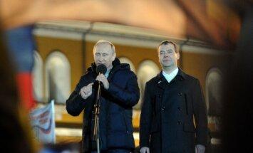 Putins 'Vienotās Krievijas' priekšsēdētāja amatam izvirza Medvedeva kandidatūru