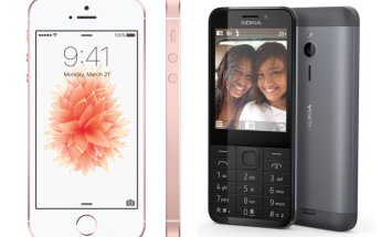 Deviņi iemesli, kāpēc 'Nokia 230' ir labāks par 'Apple iPhone SE'