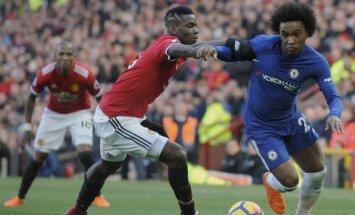 Mančestras 'United' uzvar 'Chelsea' un atgriežas premjerlīgas otrajā pozīcijā