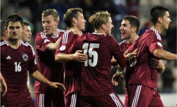 Latvijas futbola izlase FIFA rangā saglabājusi 109.vietu