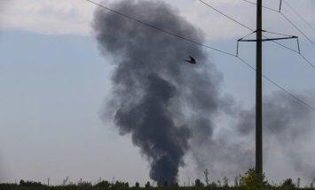 Pie Slovjanskas notriekts helikopters; starp bojāgājušajiem arī armijas ģenerālis