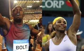 Bolts un Serēna Viljamsa - labākie gada sportisti žurnālistu vērtējumā