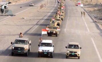 Video: Irākas spēku kolonnas dodas Mosulas virzienā