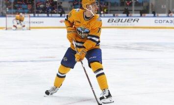 Indrašis KHL Zvaigžņu spēlē izceļas ar vārtiem un rezultatīvu piespēli