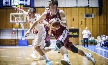 Latvijas U-20 basketbolisti uzvar EČ B divīzijas ceturtdaļfinālā un turpina cīņu par atgriešanos A divīzijā