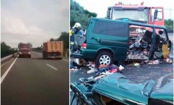 Video: Ungārijā šoferis mirkli pirms avārijas lieto 'Facebook'; deviņi bojāgājušie