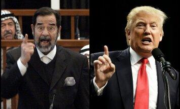 Tramps uzteic Sadamu Huseinu par veiksmīgu teroristu nogalināšanu