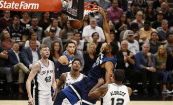 Bertāns savu otro NBA sezonu sāk ar četrām spēlētām minūtēm grūtā 'Spurs' uzvarā